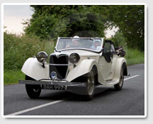 1935 Riley Lynx, on the road in Berkshire